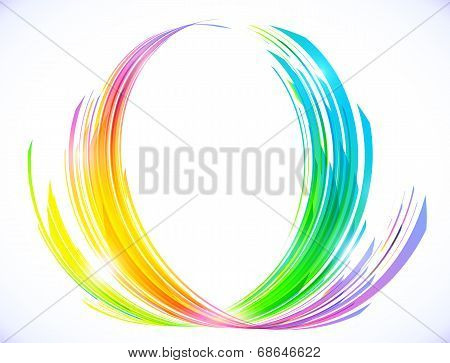 Rainbow colors abstract lotus flower symbol
