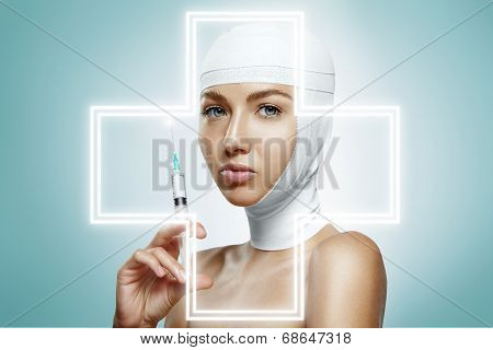 Woman Holding Injection