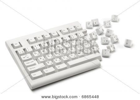 broken keyboard