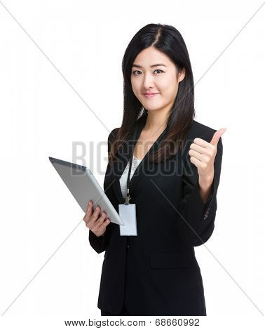 Asian Business Woman thumbup