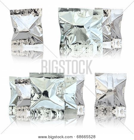 Foil Package Bag Isolated On White