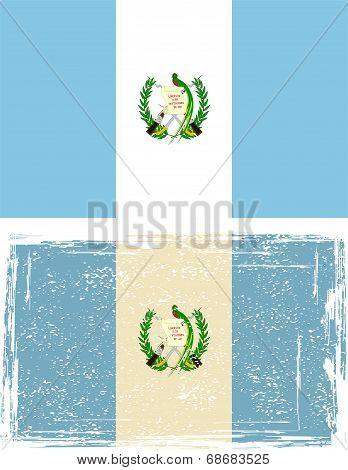 Guatemala Grunge Flag. Vector Illustration