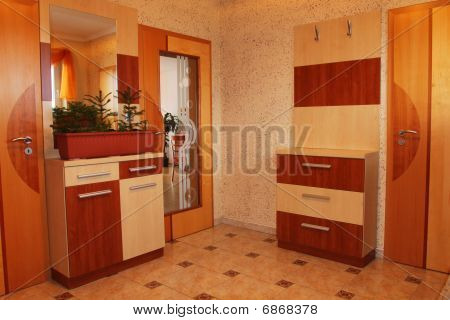 Vestibule in family house