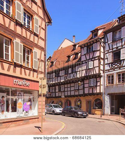 Old Town Street In Colmar