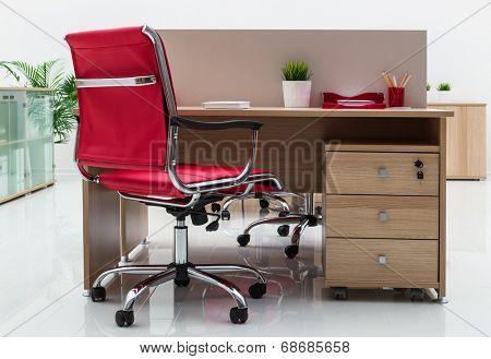 beautiful furniture in a modern office