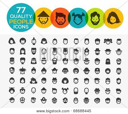 77 high quality people icons