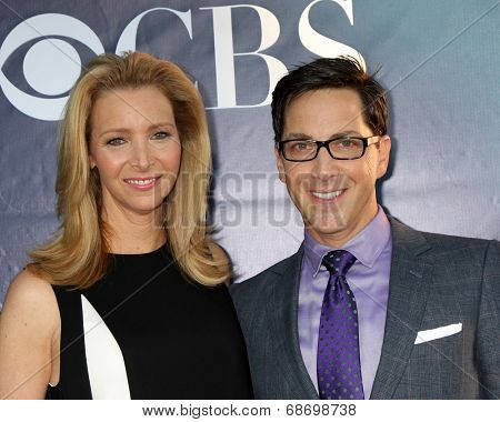 LOS ANGELES - JUL 17:  Lisa Kudrow, Dan Bucantinsky at the CBS TCA July 2014 Party at the Pacific Design Center on July 17, 2014 in West Hollywood, CA