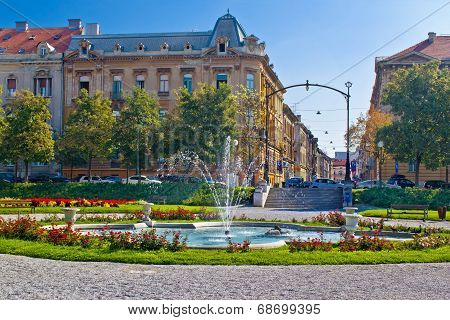 Zagreb Street And Park Scene