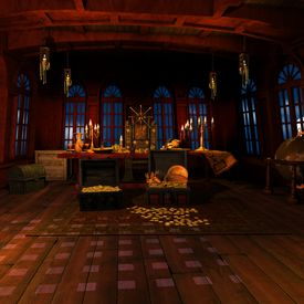 pic of pirate ship  - 3 D Render of an Pirate Captains Cabin - JPG