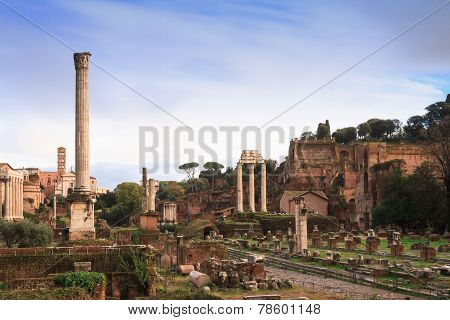 View Over The Forum Romanum
