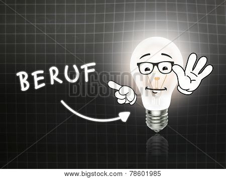 Beruf Bulb Lamp Energy Light Blackboard