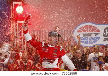 Concord, NC - Oct 11, 2014:  Kevin Harvick (4) wins the Bank of America 500 at Charlotte Motor Speedway in Concord, NC.