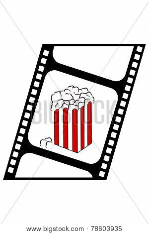 popcorn on filmstrip