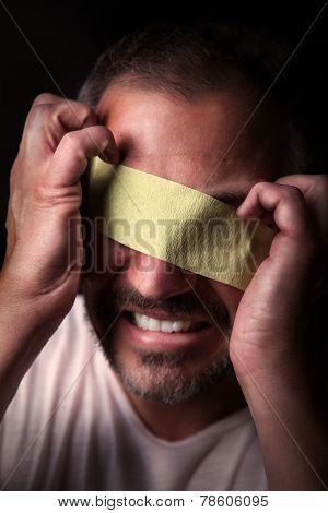 Blindfolded Man