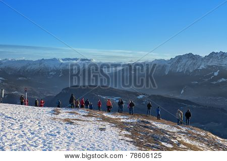 Viewpoint In The Austrian Mountain