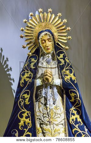 Old Mary Crown Statue Basilica Santa Iglesia Collegiata De San Isidro Madrid Spain