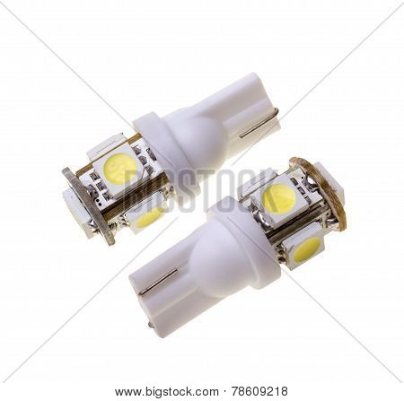 Two Led Lamp For Auto With 5 Smd Leds