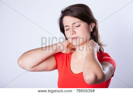 Woman Having Neck Pain