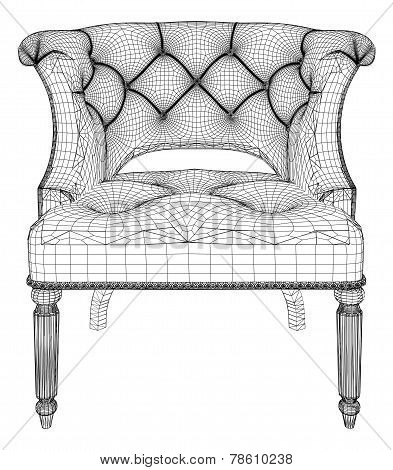 Antique Armchair Vector 15.eps