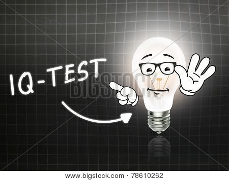 Iq Test Bulb Lamp Energy Light Blackboard