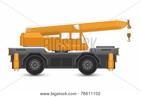 Illustration of mobile crane