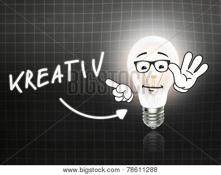 Kreativ Bulb Lamp Energy Light Blackboard