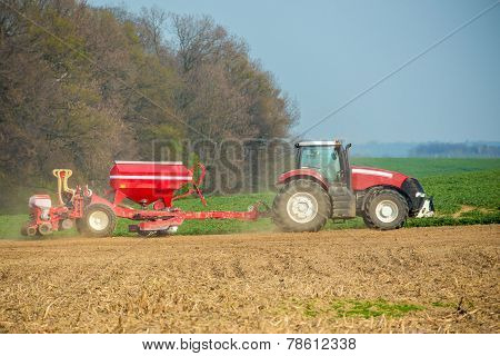 Tractor On The Field