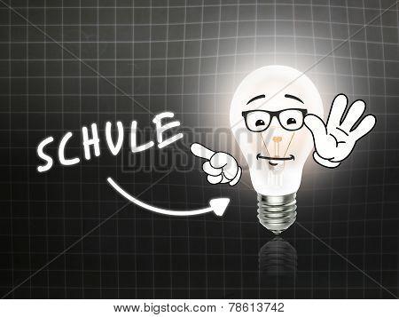 Schule Bulb Lamp Energy Light Blackboard