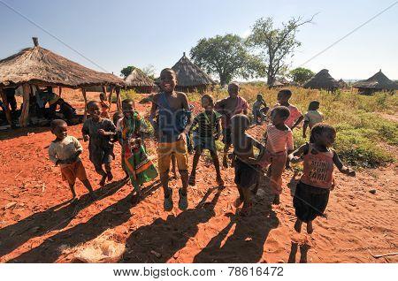 Children Of Mikuni Village, Zambia