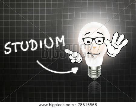 Studium Bulb Lamp Energy Light Blackboard