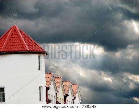 Haus and sun