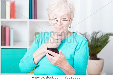 Lady And Smartphone