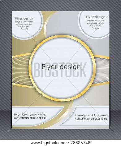 Flyer Design In Soft Shades Of Yellow