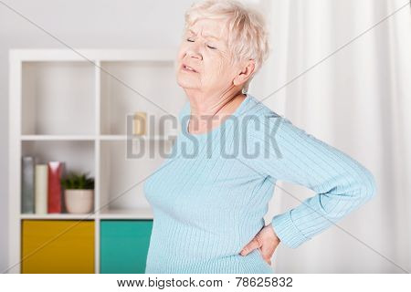 Lady With Backache