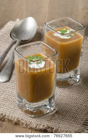 Oxtail Soup In A Shot Glass