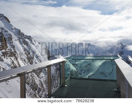 Observation Deck Of The Alps