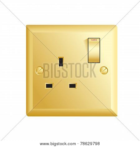 Gold UK socket