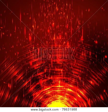 Abstract colorful shining circle tunnel