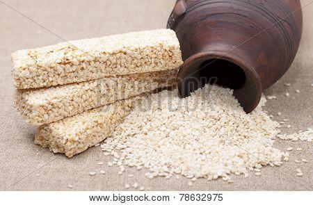 Kozinaki   Sesame Seeds.