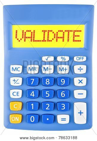 Calculator With Validate On Display