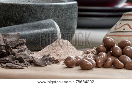 Chocolate Cocoa Candy Powder Chunks