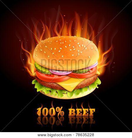Beef Hamburger Background