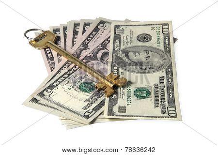 Yellow Key On Dollar Bills