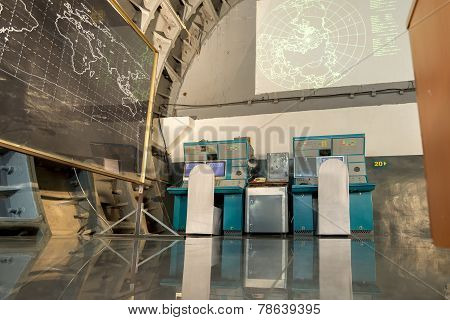 Moscow, Russia - NOVEMBER 29, 2014, Nuclear bunker,  former Soviet secret military facility - altern
