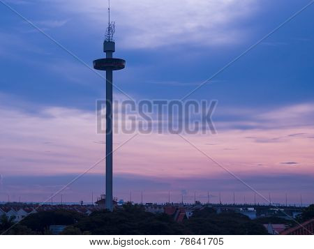 Melaka Tower At Malacca City, Malaysia.