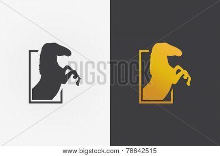 Horse  vector logo design template.