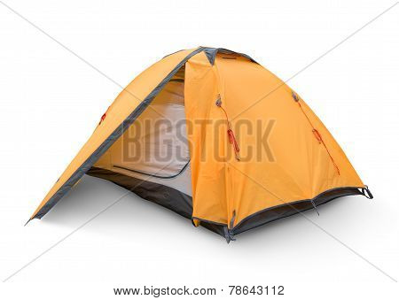 Yellow tourist tent