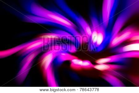 Abstract Of Light Movement