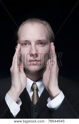 Portrait Of Business Man Giving Instructions