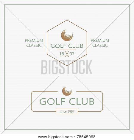 Golf logotypes. Set 4